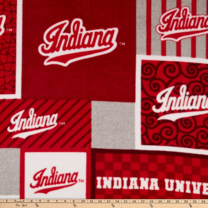 NCAA Indiana Hoosiers College Patch Fleece Fabric