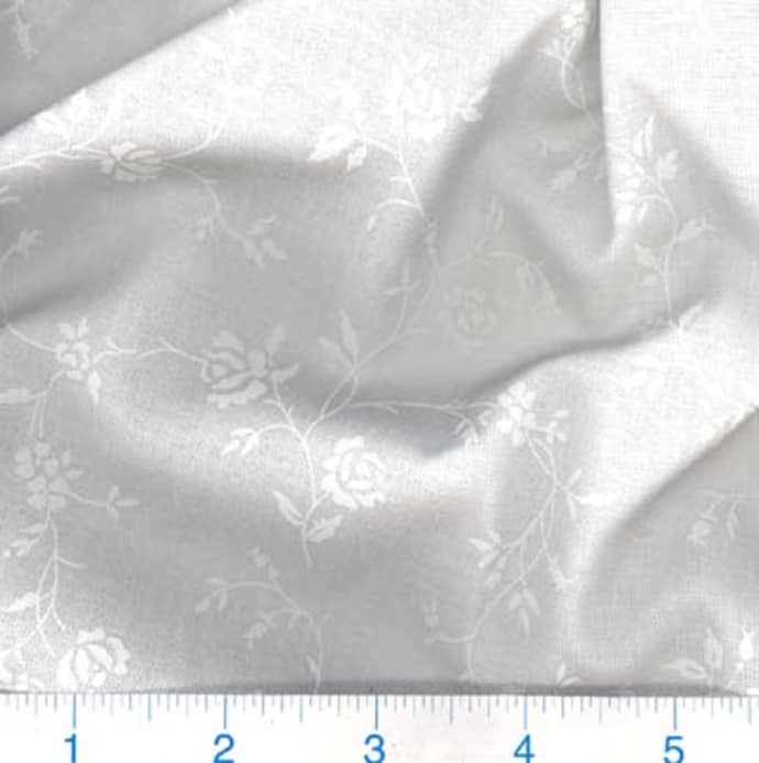 108 Quot Quilt Backing Tone On Tone Floral White White