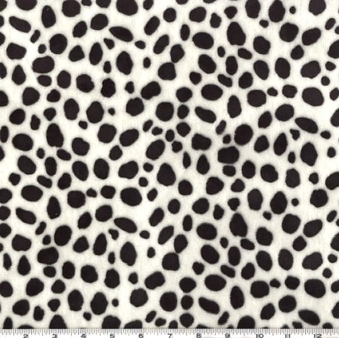 Shannon Minky Cuddle Dalmatian Black White Fabric