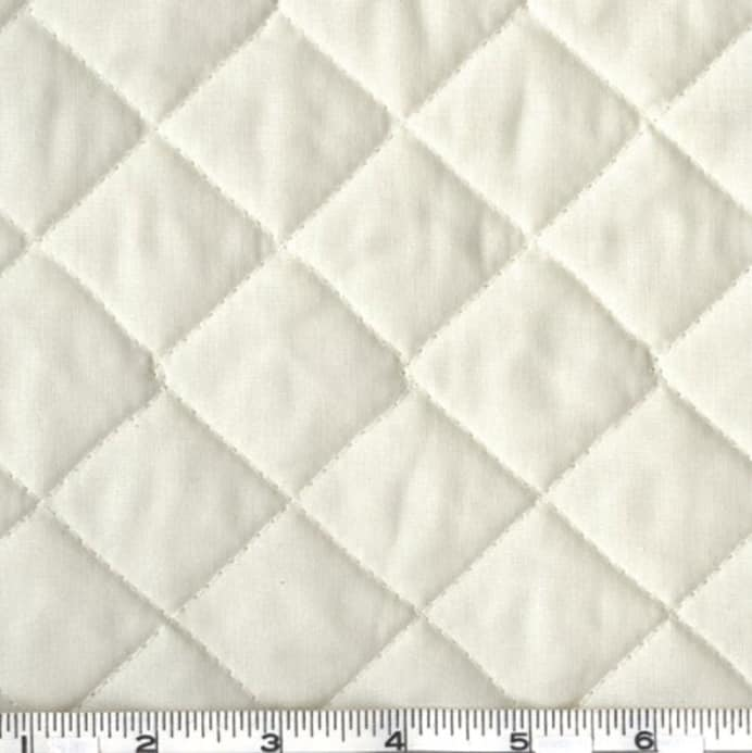 Double Sided Quilted Broadcloth Cream Discount Designer