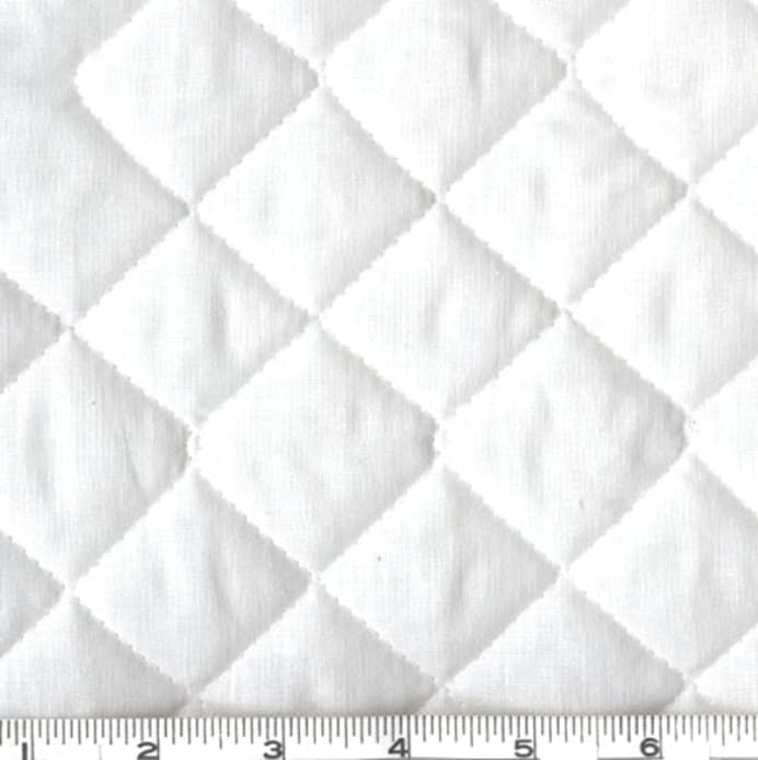 Double Sided Quilted Broadcloth White Discount Designer