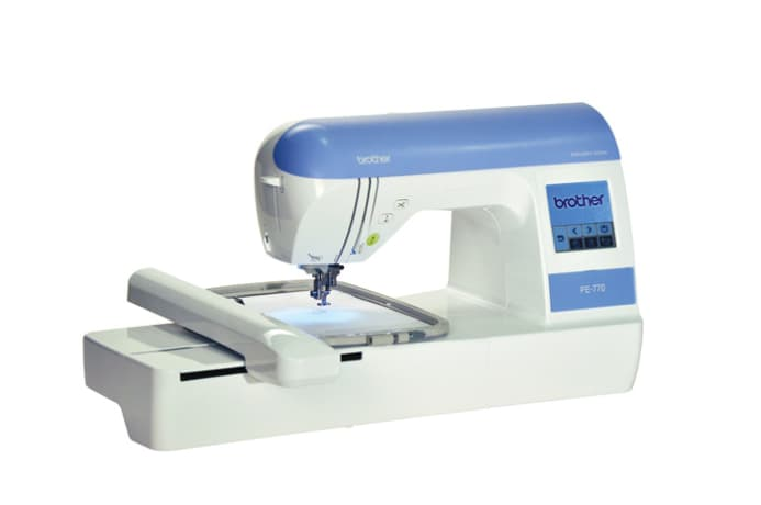 Brother pe embroidery machine with usb memory stick