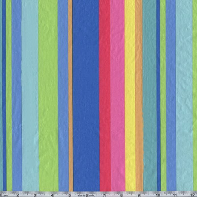 Flannel Backed Vinyl New Spring Stripe Blue Discount