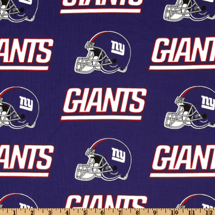 6136e161c NFL Cotton Broadcloth New York Giants Blue Red - Discount Designer ...