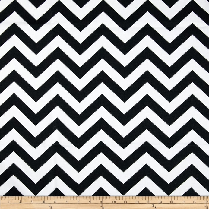 Zoom premier prints zig zag black white