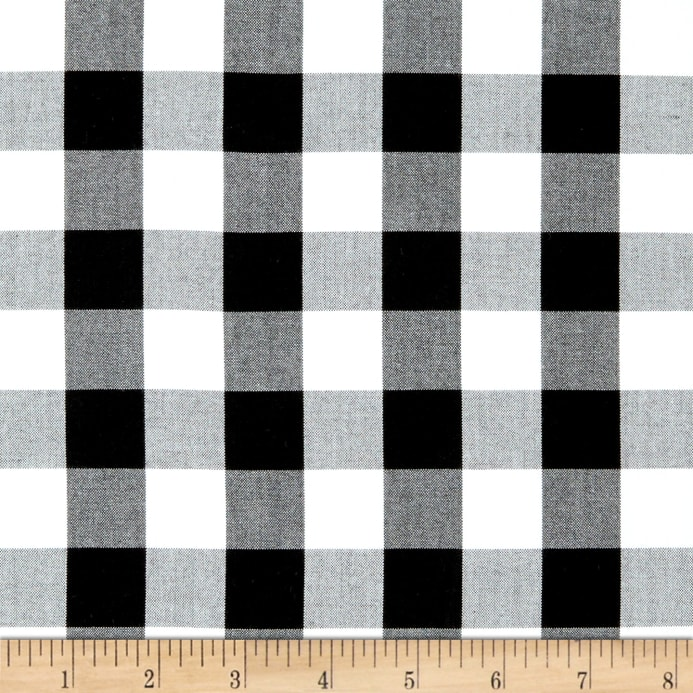 Kaufman 1 Carolina Gingham Blackwhite Discount Designer Fabric