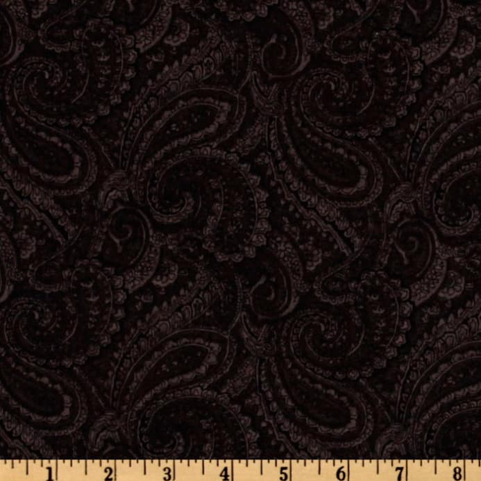 108 Complementary Quilt Backing Paisley Black Discount