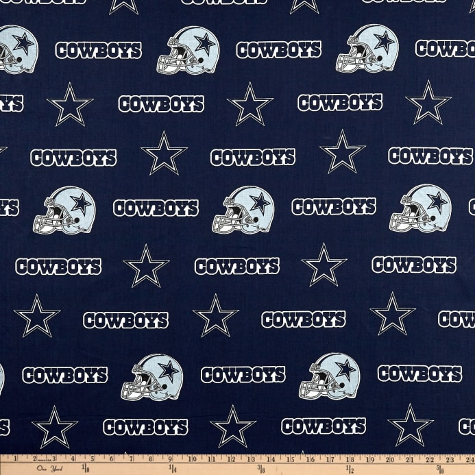06a554562 NFL Cotton Broadcloth Dallas Cowboys Blue - Discount Designer Fabric ...