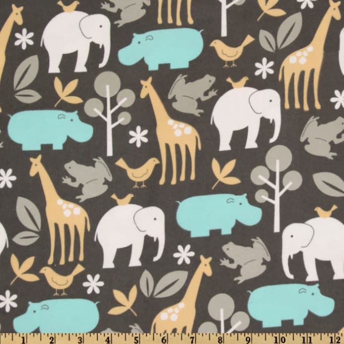 Zoom Michael Miller Baby Zoology Flannel Sea
