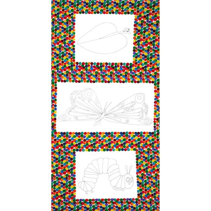 The Very Hungry Caterpillar Coloring Book Panel Multi - Discount ...