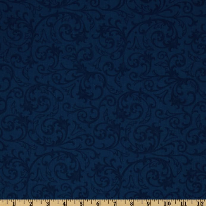 Baroque 108 Quot Quilt Backing Flourish Blue Discount