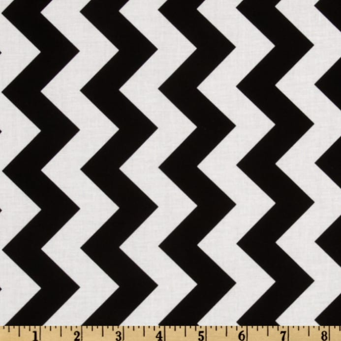Riley Blake Chevron Medium Black Discount Designer
