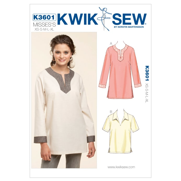 Kwik Sew Tunic Pull-Over Tops Pattern - Discount Designer Fabric ...
