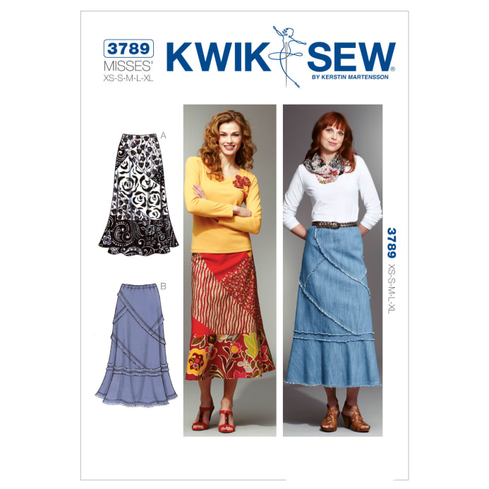 Kwik Sew Misses Patchy Skirts Pattern - Discount Designer Fabric ...