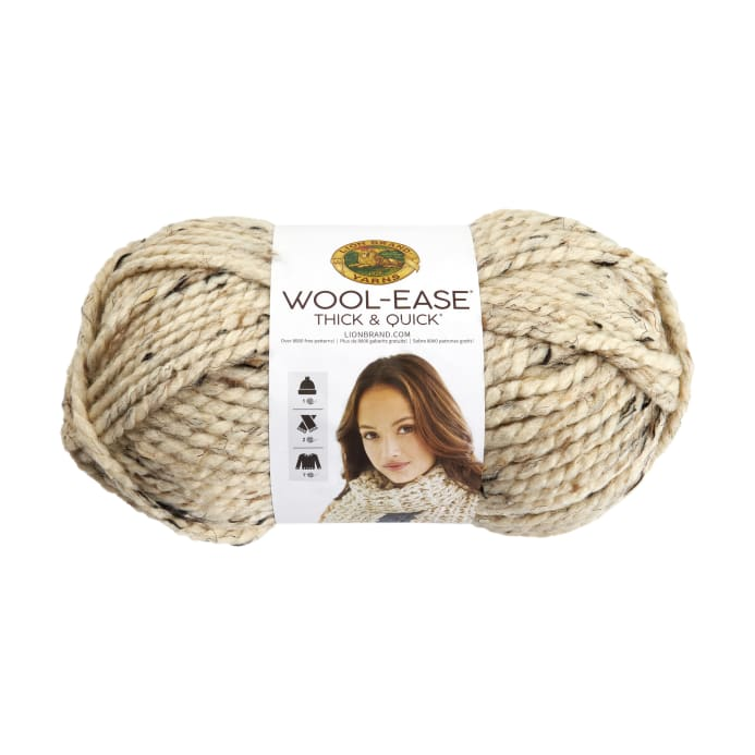 lion brand wool ease thick quick yarn 123 oatmeal discount