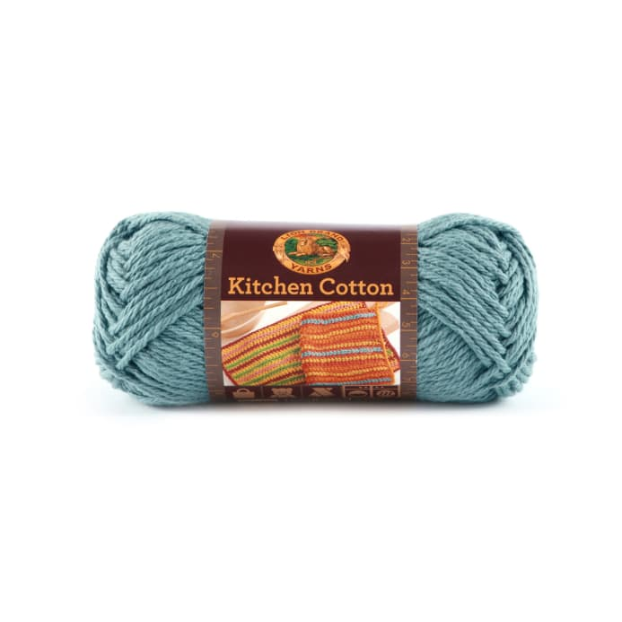 Zoom Lion Brand Kitchen Cotton Yarn 108 Blue Ice