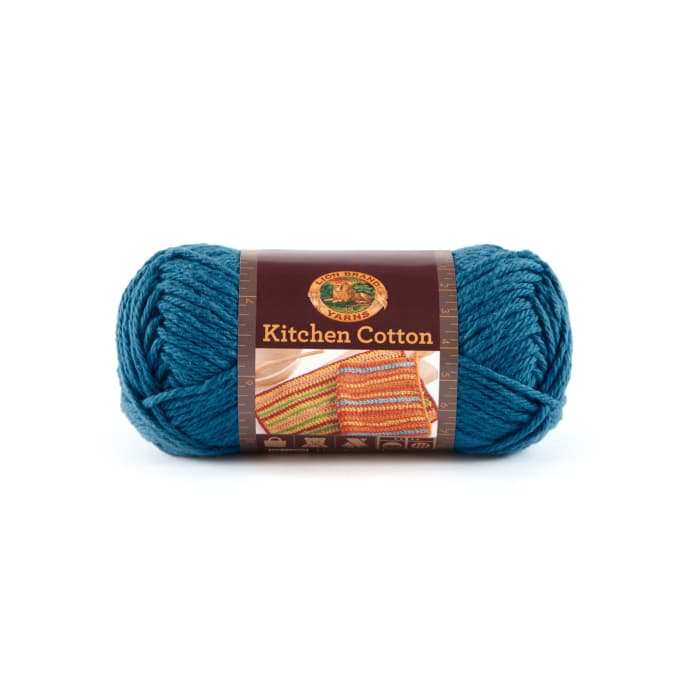 Zoom Lion Brand Kitchen Cotton Yarn 106 Blueberry