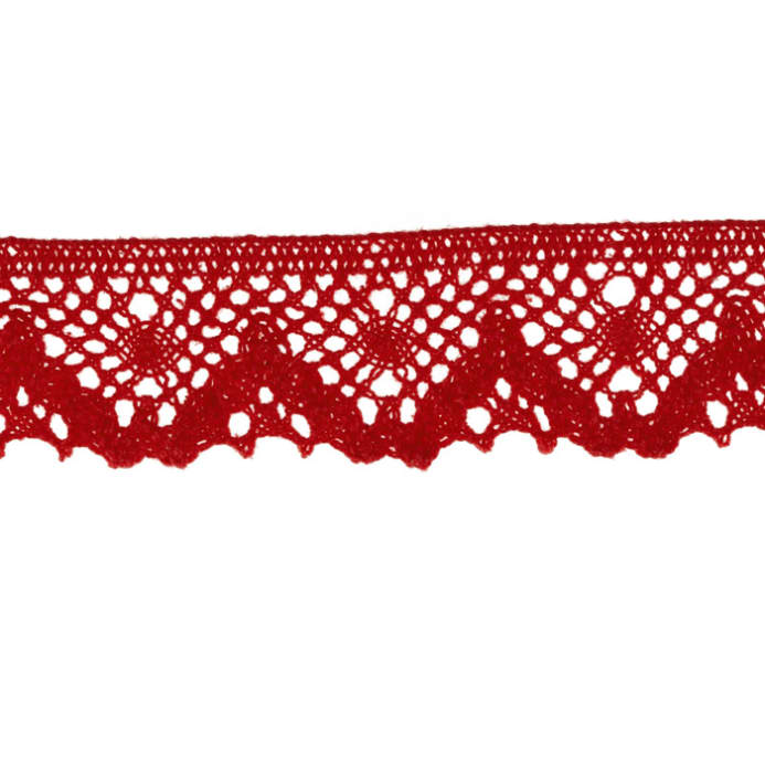 Riley Blake Sew Together 1 14 Crocheted Lace Trim Red Discount