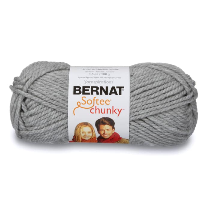 Bernat Softee Chunky Yarn 28046 Grey Heather Discount