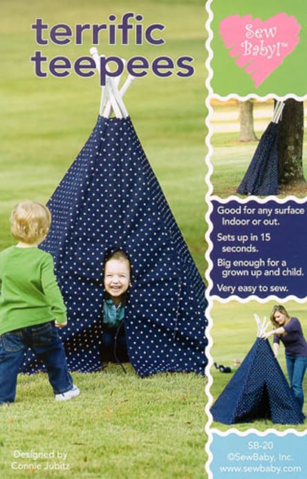 Sew Baby Terrific TeePees Pattern - Discount Designer Fabric ...