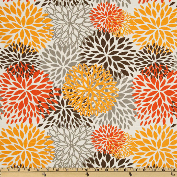 Modern Chairs Top 5 Luxury Fabric Brands Exhibiting At: Premier Prints Blooms Slub Chili Pepper