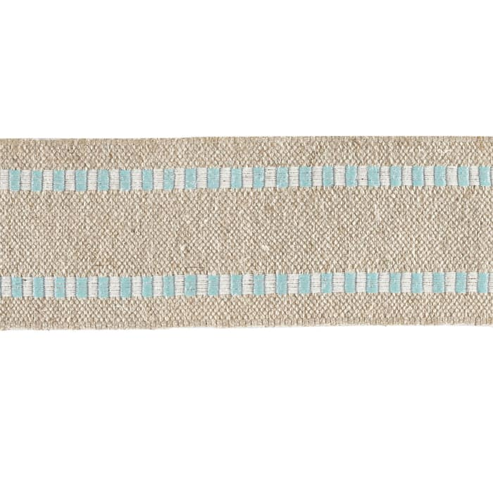 1 1/2'' Wired Natural Burlap Stripe Edge Ribbon