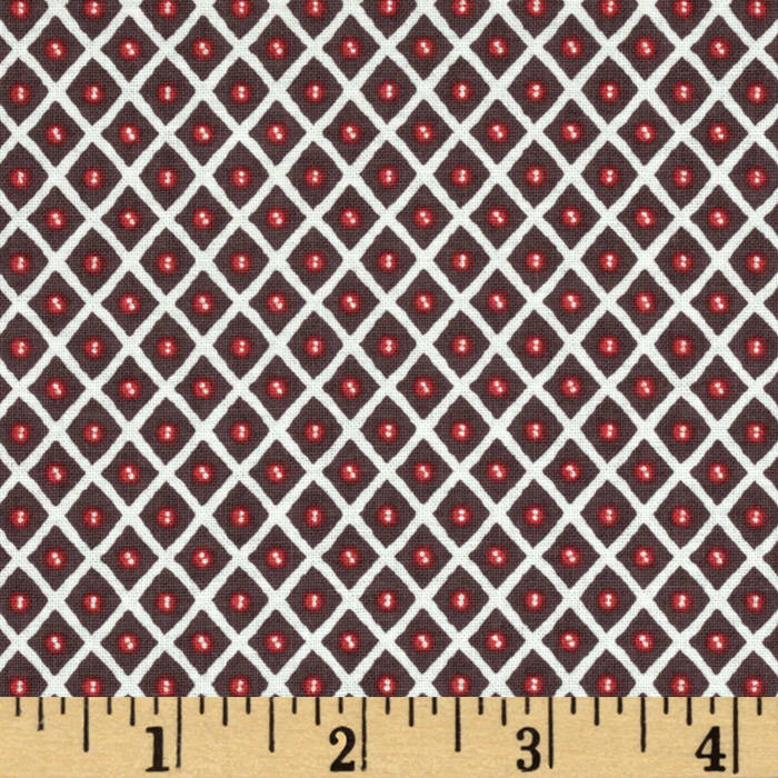 Feather N Stitch Trellis Brown