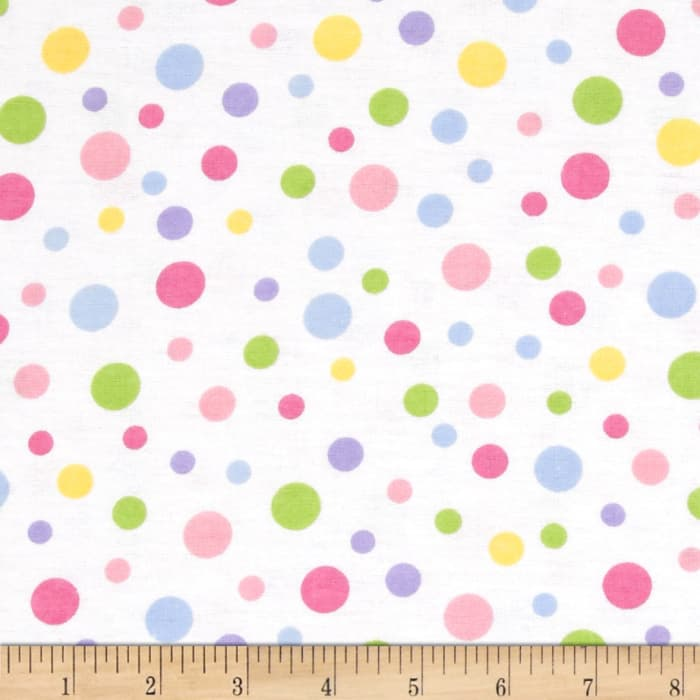 Alpine Flannel Dots Pastel/White