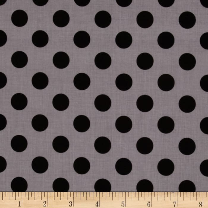 Riley Blake Medium Dots Tone on Tone Black
