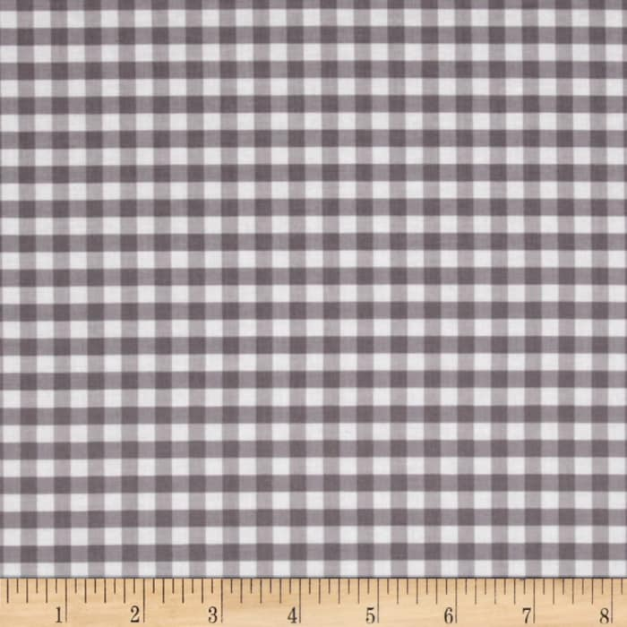 Riley Blake Basics Medium Gingham Gray
