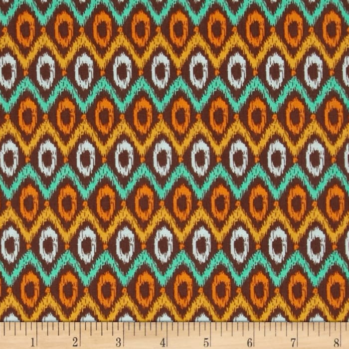 Happy Jungle Geo Ikat Brown