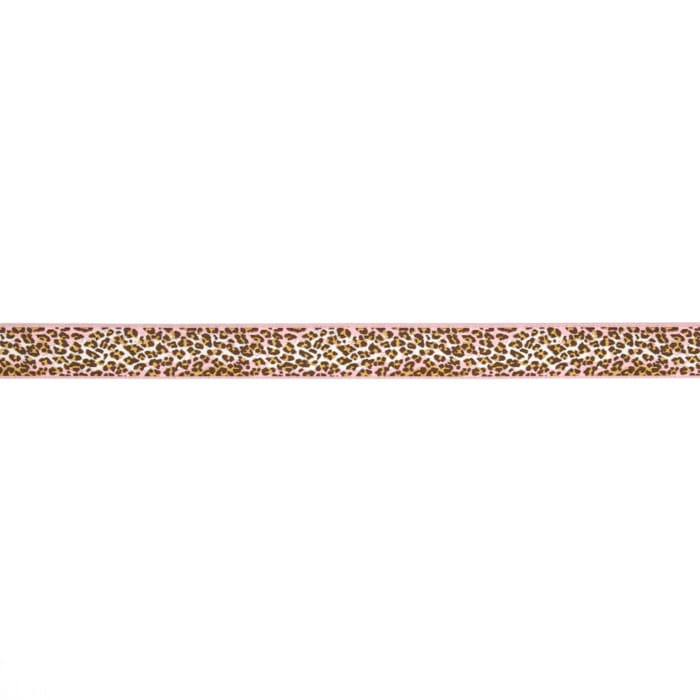 "7/8"" Anna Maria Horner Ombre Leopard Ribbon Pink/Brown"