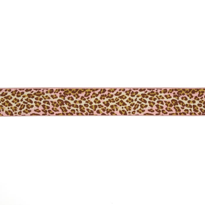 """1-1/2"""" Anna Maria Horner Ombre Leopard Ribbon Pink/Brown"""