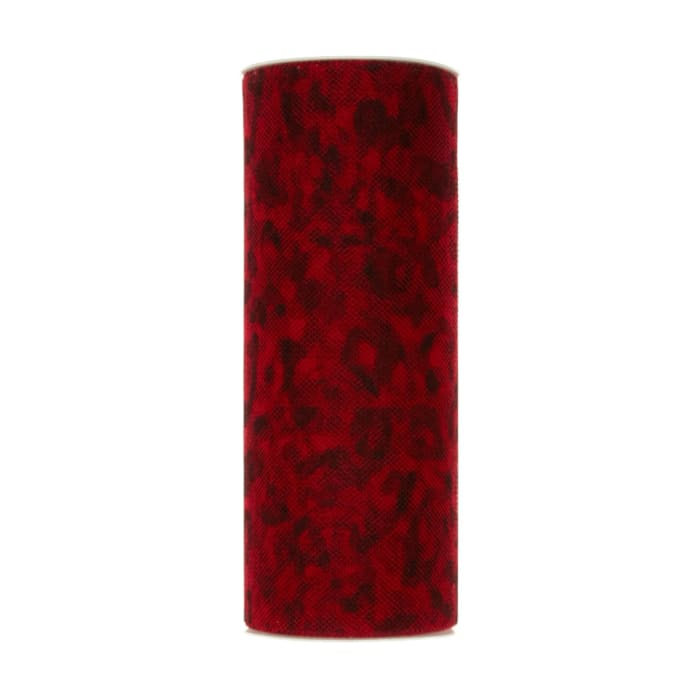 Tulle Spool Leopard Red