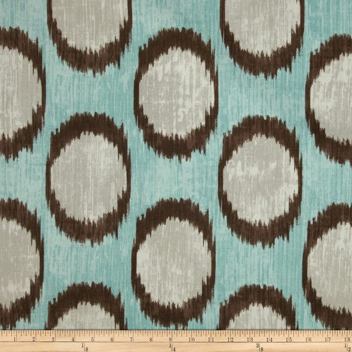 Braemore Dots Are Hot Ikat Bluebell