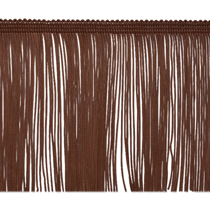 "4"" Chainette Fringe Trim Chocolate"