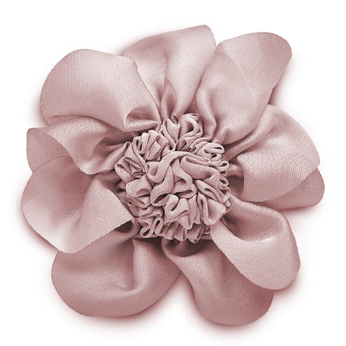 3'' Ruched Flower Pin And Hairclip Pink