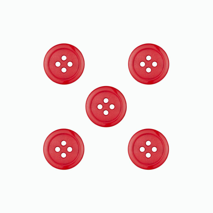 Dill Buttons 9/16'' Polyamid Button Red