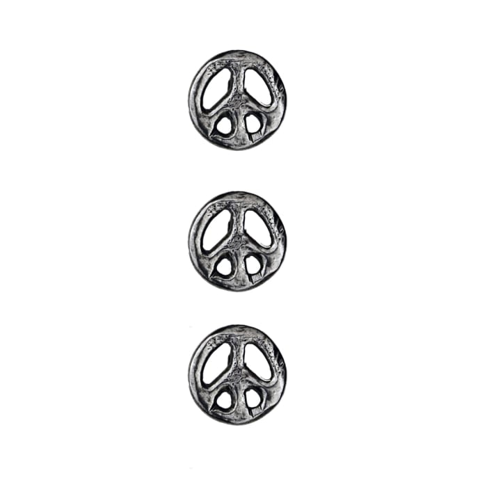 """Dill Buttons 9/16"""" Full Metal Button Antique Silver"""