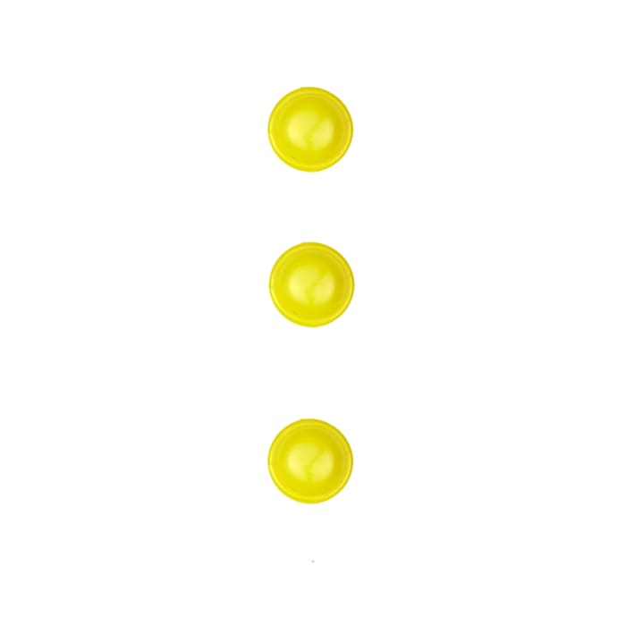 Dill Novelty Button 3/8'' Dome Yellow