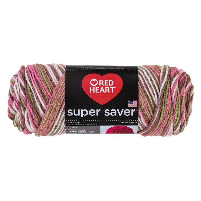 Red Heart Super Saver Yarn 972 Pink Camo