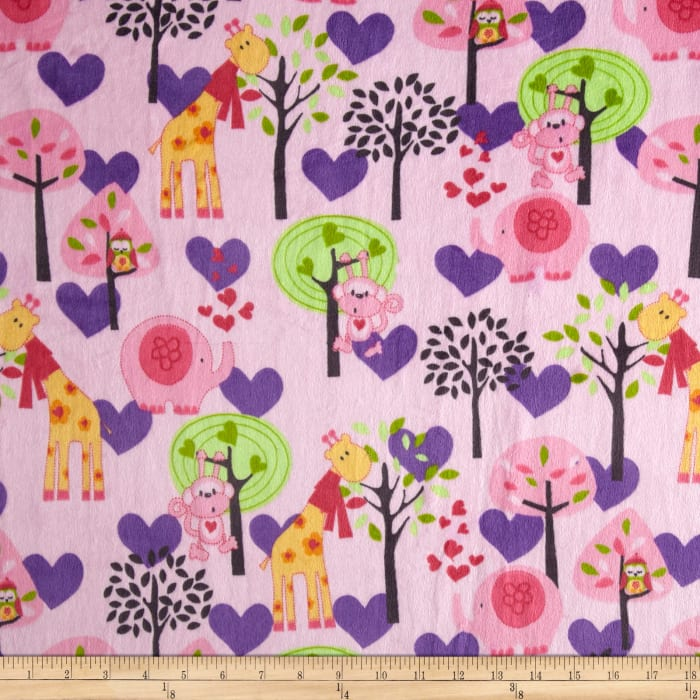 Minky Animal in Recess Pink