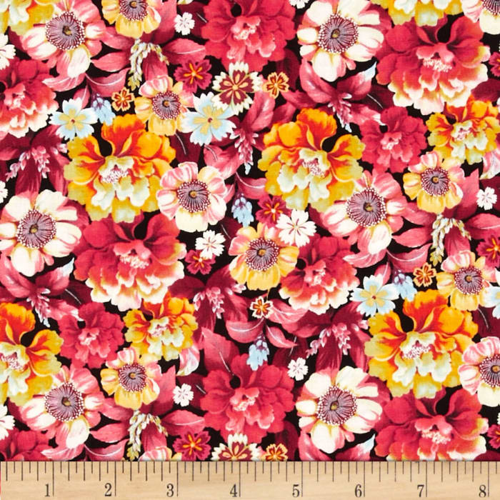 Shimmery Bouquets Medium Floral Multi
