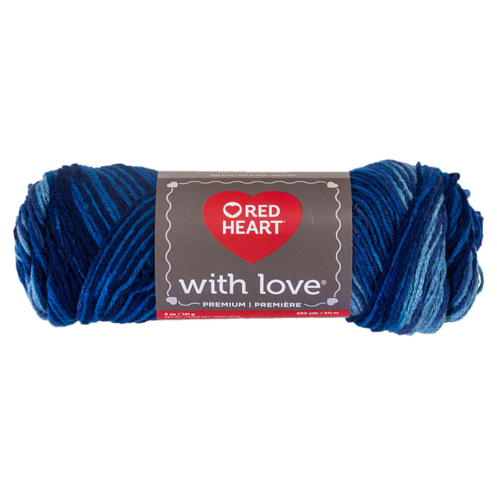 Red Heart Yarn With Love Variegated 1937 Deep