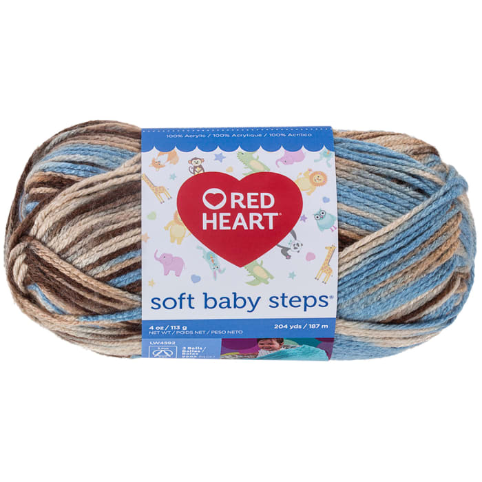 Red Heart Yarn Soft Baby Steps 9935 Blue