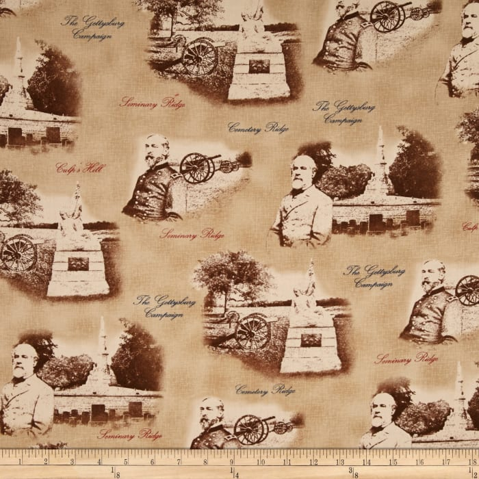 Gettysburg Generals And Cannons Tan