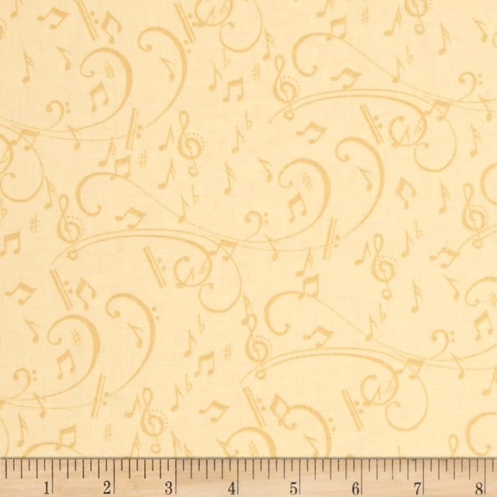 12 Days Of Christmas Musical Notes Cream