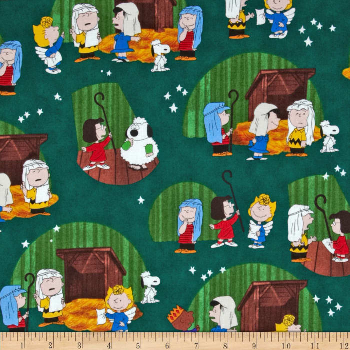 Peanuts Christmas Time Xmas Play Vignettes Forest