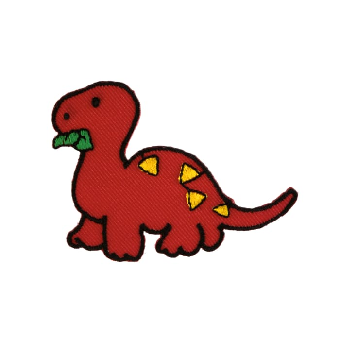 Dino with Leaves Applique
