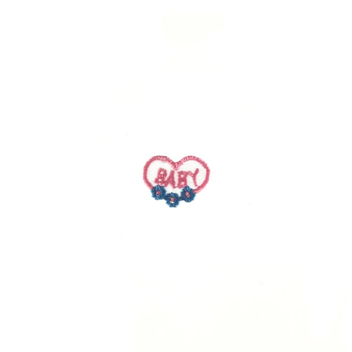 Baby with Heart Applique Pink/Blue